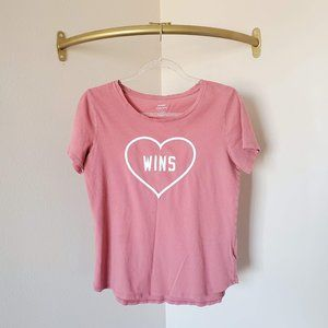 Old Navy Love Wins Heart Short Sleeve Graphic Tee